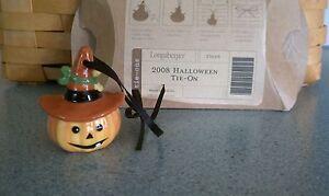 Longaberger-2008-Halloween-tie-on-Ornament-NEW-in-package-Jack-o-Lantern-Pumpkin