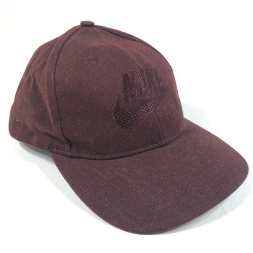 Nike Burgundy Red Snapback Hat Cap Swoosh Check On