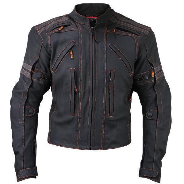 Vulcan Men's VTZ-910 Street Biker Jacket Premium Cowhide Genuine Leather