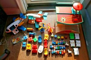 HUGE-LOT-Vintage-Fisher-Price-Little-People-Play-Family-Airport-996-and-more