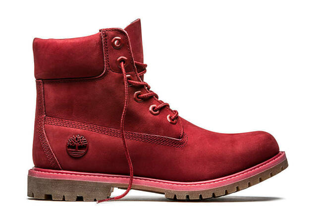 Timberland Women's 6 inch Premium Waterproof Boots Ruby Red A1JGJ