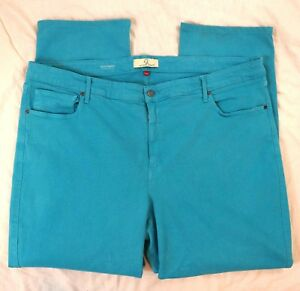 0c3e9f28964 Image is loading Cookie-Johnson-Faith-Straight-Turquoise-Womens-Jeans-Plus-