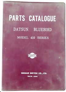 RARE-DATSUN-BLUEBIRD-410-OFFICIAL-PARTS-CATALOGUE-100s-PAGES-SUPERB-REFERENCE
