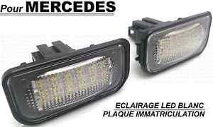 Led Eclairage Plaque Immatriculation Mercedes W203 Classe C 00 06