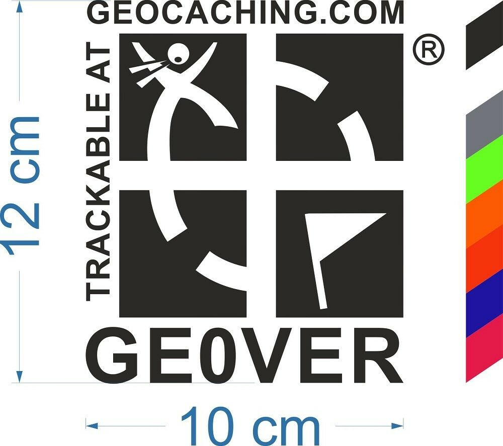 Geocaching trackbarer Groundspeak trackbarer Geocaching des autocollants avec numéro geocatching 9fee8a