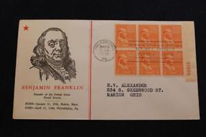Patriotique-Housse-1938-1ST-Jour-Edition-Presidentiel-Series-Benjamins-Franklin