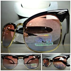 3dd0da9cb0 CLASSIC 60 s VINTAGE RETRO Style SUN GLASSES Black Gold Frame Rose ...