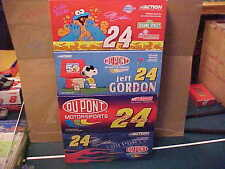 #24 JEFF GORDON 4 CAR LOT,1/24 COOKIE MONSTER, SNOOPY 2001 FLAMES & 2003 FLAMES