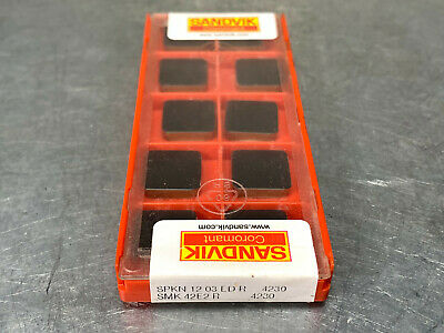 SANDVIK SPKN 12 03 ED R Grade 4230-10 Inserts//Box SMK 42E2 R