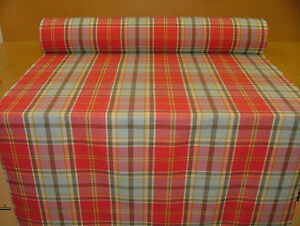6-Metres-Elgin-Watermelon-Wool-Effect-Tartan-Check-Upholstery-Curtain-Fabric