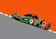 Mazda 787b: Le Mans (A3) Print by RacingLineDesigns - WEC IMSA