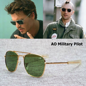 ebd9aecd36 New Fashion Army MILITARY AO Pilot 54mm Sunglasses Brand American ...