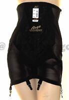 Rago 1294 High Waist Open Bottom Girdle 6 Metal Garters Side Zipper Firm Control