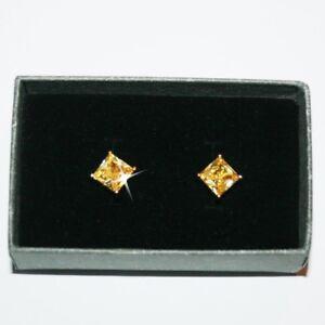 Princess-Cut-Canary-Yellow-Diamond-Alternatives-Stud-Earrings-14k-gold-over-Base