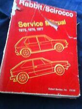 1975 1976 1977 VW Volkswagen Scirocco Rabbit ( Golf ) Service Manual Prospekt