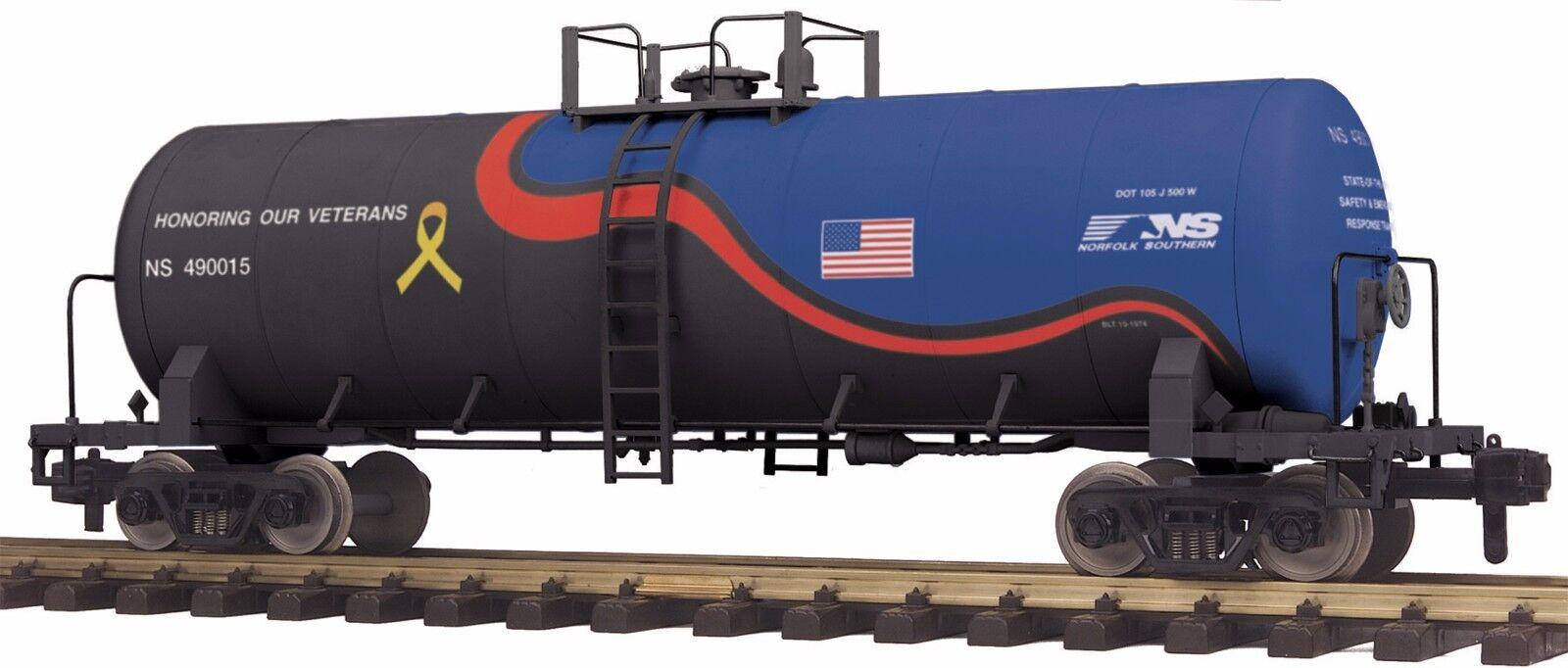 MTH 70-73055, G Gauge RailKing One Gauge Unibody Tank Car - Norfolk Southern