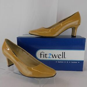 5cdf0e81f6 FITZWELL WOMEN'S VINCENT PUMP NUDE DRESS COMFORT HEELS SZ 6.5 M ...