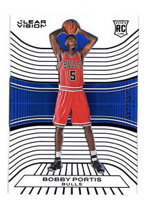 2015-16-Bobby-Portis-Panini-Clear-Vision-Blue-Rookie-149-Chicago-Bulls