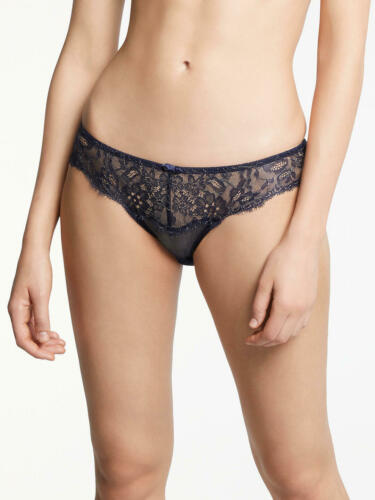 AND//OR Natasha Lace Briefs Navy//Gold Size 16 New with Tags Free P/&P UK