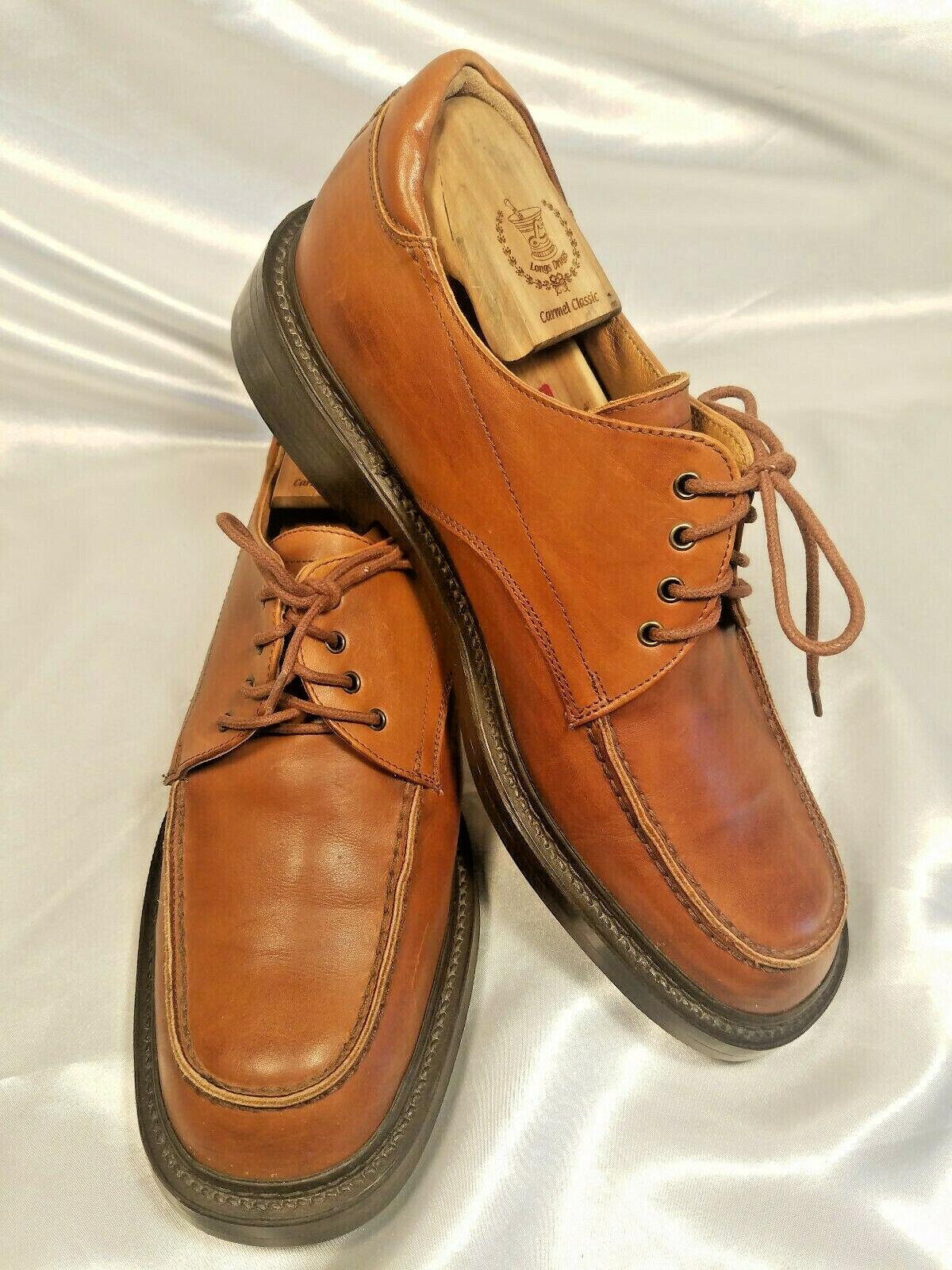 Johnston & Murphy C, cuero marrón, 10 metros de calzado masculino, caucho