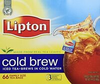 Lipton, Black Tea, Cold Brew, Family Size Tea Bags, 22-count Boxes (pack Of 3),