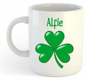 Alfie - Trèfle Nom Personnalisé Tasse - Irlandais st Patrick Cadeau H580b0kc-09084254-144002476