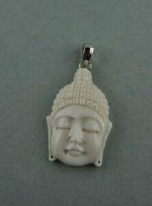 Bone Carving Buddha Bison Knochen Sterling Silber QualitäT Und QuantitäT Gesichert