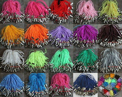 50pcs Mobile Phone Dangle Charm Strap String Thread Cord 19 Colors