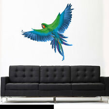 Full Color Wall Decal Sticker Cute Fashion Parrot Bird Branch (Col749)