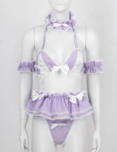 Details about  /Sexy Women Lingerie Set Role Play Fancy Dress Apron Uniform Cosplay Costume Club