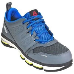 892fc3d12956da Reebok Shoes  RB3604 Grey Men s Alloy Toe ESD Blue DMX Flex Athletic ...