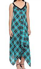 NWT Michael Kors Island Blue Plaid Scarf Dress sz S/M $160