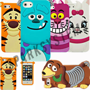 Cartoon-Silicone-Rubber-3D-Case-For-Apple-iPhone-4-4S-5-5S-Samsung-Galaxy-5-4-amp-3