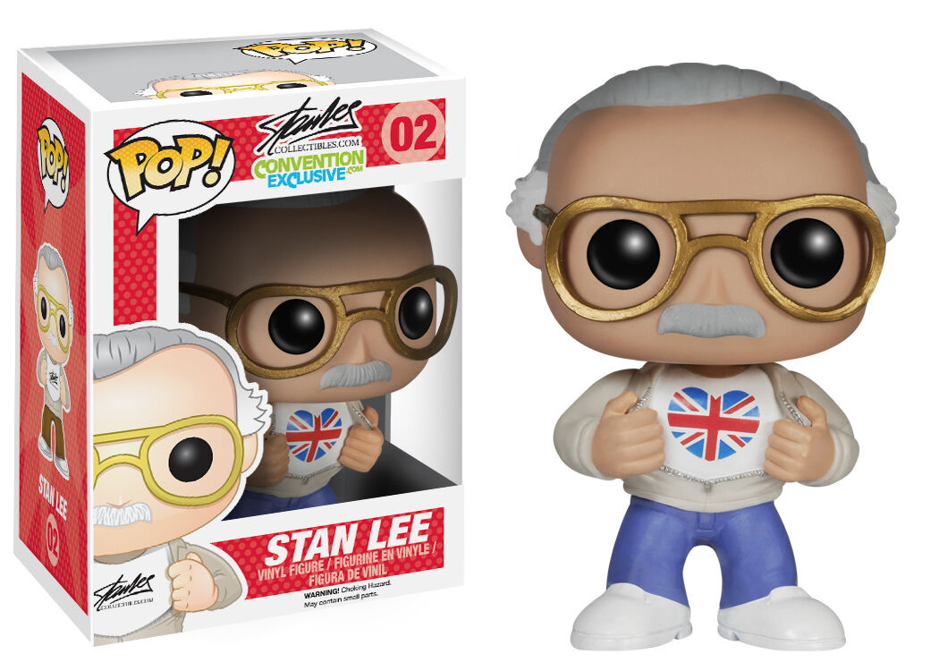 MARVEL   STAN STAN STAN LEE FUNKO POP VINYL FIGURE UK LONDON FILM COMIC CON EXCLUSIVE 2014 5fcf7d