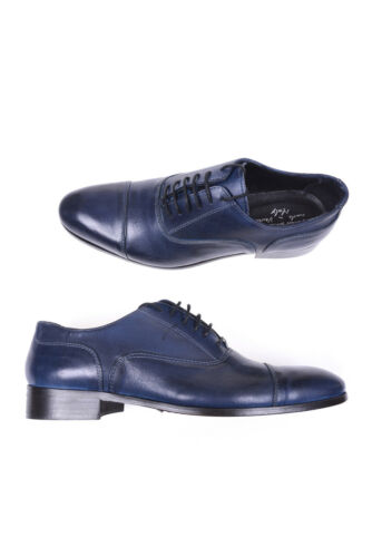 Daniele Alessandrini Shoes MADE IN ITALY Leather Man Blue F347K1603500 23
