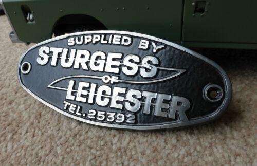 Land Range Rover Defender Heritage Aluminium Tub Dealer Badge Sturgess Leicester