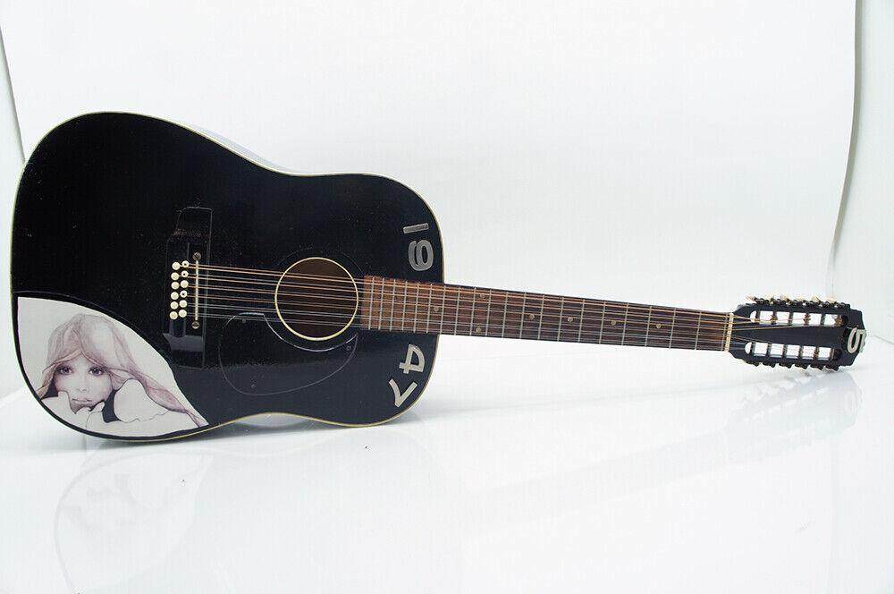 12 seitige Akustikgitarre Gitarre schwarz 1947 in Koffer