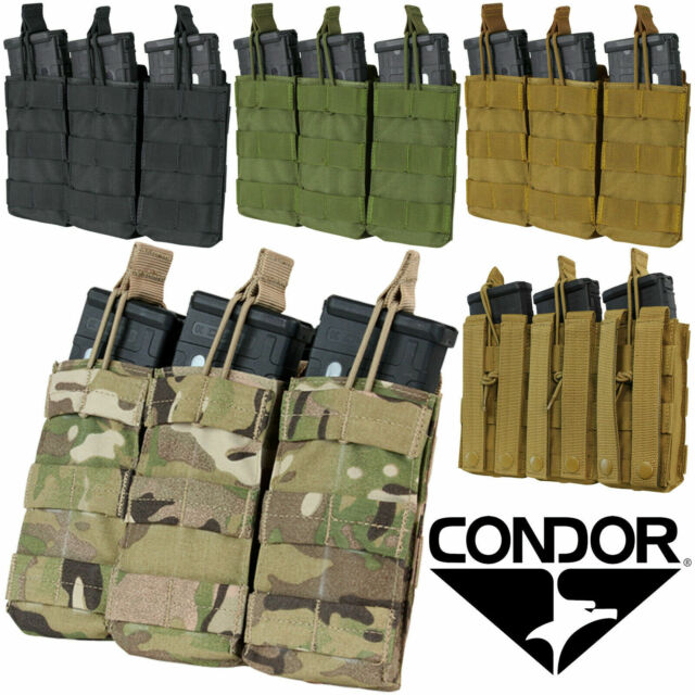 Condor MA33 MOLLE PALS Modular Triple Closed Top Large Rifle Magazine Mag Pouch