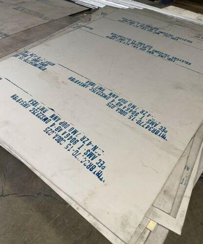 """Titanium 6-2-4-2 Plate 25/"""" x 36/"""" x .025/"""""""