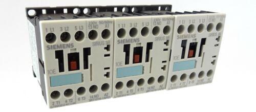 3x Siemens Sirius 3R Schütz 3RT1016-1AP01 Contactor Spule 230V~ 4kW 400V 1S E:04