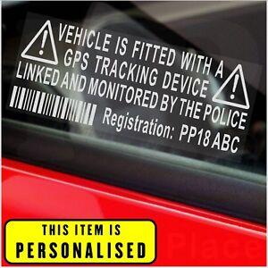 3x Van Tracker Security Alarm Stickers Caravan Motor Home Tracker Security Decal