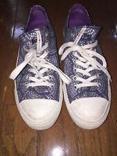 Women's All Star Converse blue silver purple marimekko tennis shoes sneakers 11
