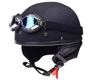 Helm-Retro-Oldtimer-Motorradhelm-mit-Brille-fuer-Simson-MZ-ETZ-TS-AWO-DDR-Moped