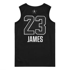 outlet store acf8b fcd9d Details about Nike Air Jordan Men's All Star Swingman Jersey Black Lebron  James Cleveland M