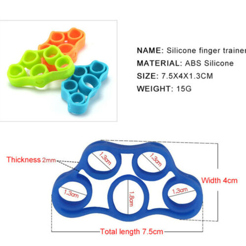Silicon Hand Stretcher Grip Exerciser Finger Gym Strength Training Elastic Bands