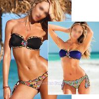Sexy Women's Push-up Padded Bra Triangle Bikini 2 Pcs Set Swimsuit Swimwear SML