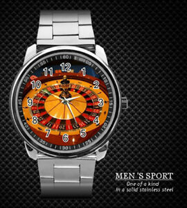 CASINO-LUCKY-ROULETTE-STEEL-WATCH-NEW-2019-RARE