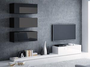 Details zu Wohnwand Cormons III Hängwand Anbauwand Mediawand Modern Still  TV-Wand Hängend