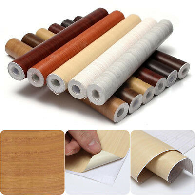 Wall Wood Grain Mural Decal Self Adhesive PVC Wall Film Paper Sticker Decor 10M