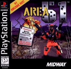 Ps1 Area 51 Midway Game PlayStation 1 Complete Tested Works